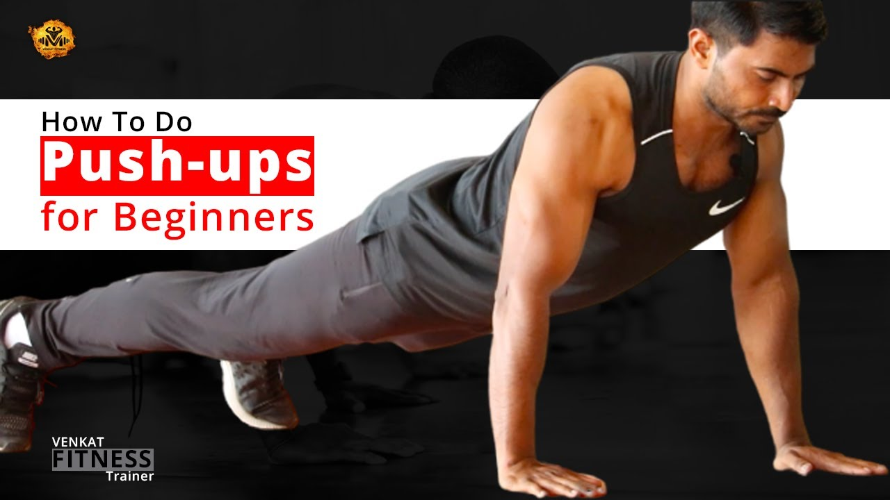 How to do push-ups for beginners in Telugu