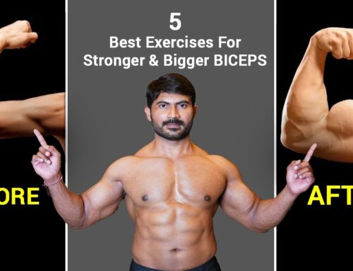 5 Best Exercises for Stronger & Bigger Biceps || Bicep Workouts in Telugu
