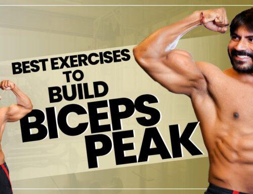Top 3 Exercises for Biceps Peak || How to Get BICEPS PEAK in Telugu