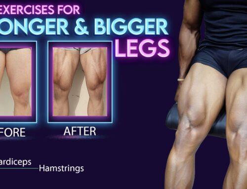 4 Best LEG EXERCISES for Mass || Hamstring & Quadriceps Exercises in Telugu